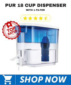 Pur 18 Cup Dispenser with 1 Filter
