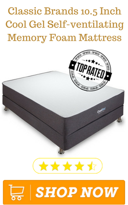 Classic Brands 10.5 Inch Cool Gel Self-ventilating Memory Foam Mattress