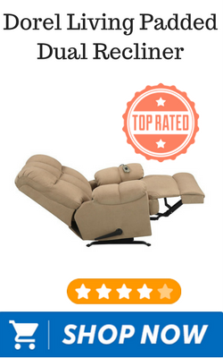 Dorel Living Padded Dual Recliner