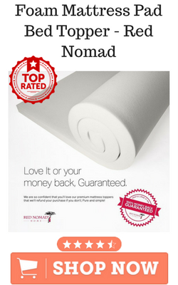 Foam Mattress Pad Bed Topper - Red Nomad