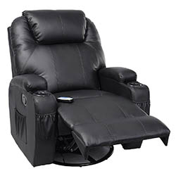 Tangkula Pu Leather Ergonomic Heated Massage Recliner