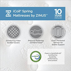 Zinus 10 Inch Performance Plus _ Extra Firm Spring Mattress