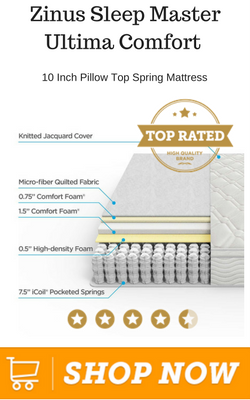 Zinus Sleep Master Ultima Comfort 10 Inch Pillow Top Spring Mattress1
