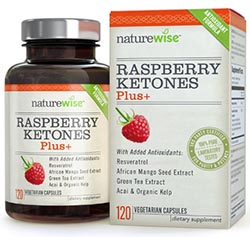 Raspberry Ketones Plus+ Advanced Antioxidant Blend with Green Tea by NatureWise