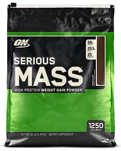 Serious Mass Gainer Protein Powder, Chocolate by Optimum Nutrition