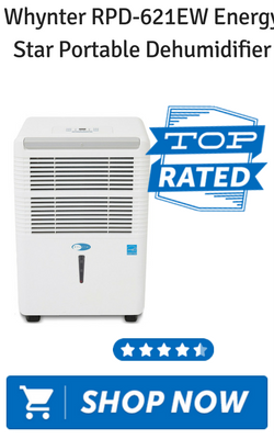 Whynter RPD-621EW Energy Star Portable Dehumidifier
