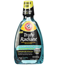 Arm and Hammer Truly Radiant Whitening and Strengthening Sparkling Mint Fluoride Rinse