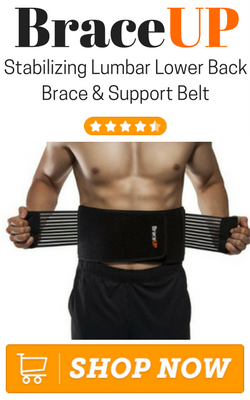 BraceUP Stabilizing Lumbar Lower Back Brace and Support Belt