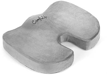 Coccyx Orthopedic Memory Foam Office Chair and Car Seat Cushion by ComfiLife