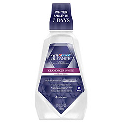 Crest 3D White Luxe Glamorous Multi-Care Whitening Fresh Mint Flavor Mouthwash