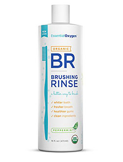 Essential Oxygen Organic Brushing Rinse Toothpaste Mouthwash for Whiter Teeth