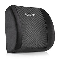 Lower Back Pain Cushion - Use for Effective Lumbar Support and Back Pain Relief by SimplePosture
