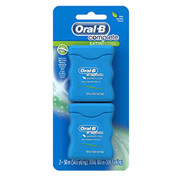 Oral-B Complete Satin Floss Mint, 50m, Twin Pack