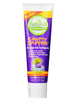 The Natural Dentist Cavity Zapper Fluoride Gel Toothpaste