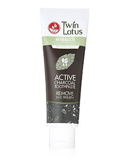 Twin Lotus Active Charcoal Toothpaste Herbaliste Triple Action