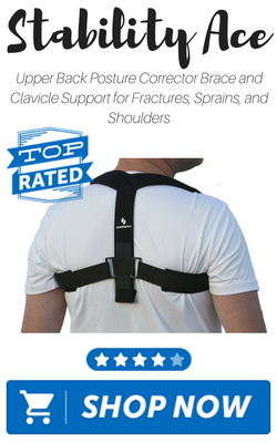 Upper Back Posture Corrector Brace and Clavicle Support for Fractures, Sprains, and Shoulders by Stab