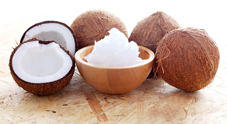 refined coconut oil for hair