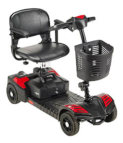 Drive Medical Scout Compact Travel Power Scooter – 4 Wheels