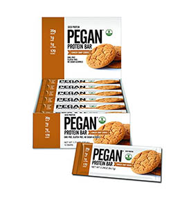 Pegan Protein Bar Gingersnap Cookie by Julian Bakery