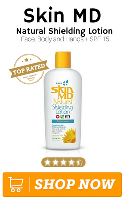 Skin MD Natural Shielding Lotion for Face Body and Hands SPF 15