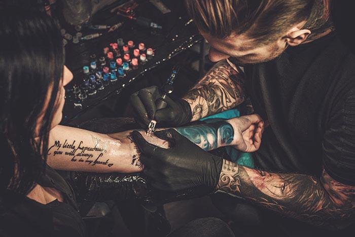 dry healing tattoo