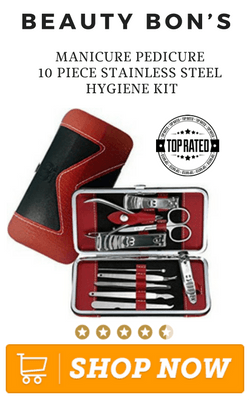 Beauty Bon's Manicure Pedicure 10 Piece Stainless Steel Hygiene Kit