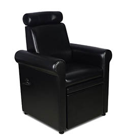 "Icarus ""Crest"" Black Pedicure Foot Spa Station Chair"