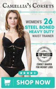 1b11f5a7e55 Camellia s Corsets Women s 26 Steel Boned Heavy Duty Waist Trainer Corset  Shaper for Weight Loss