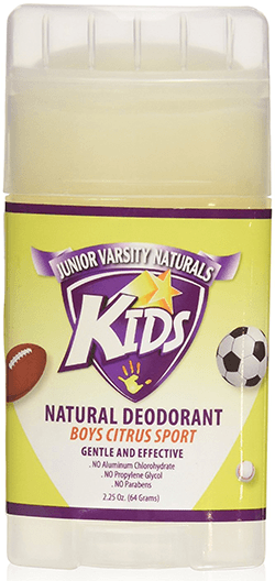 Junior Varsity Naturals Kids Natural Deodorant for Boys