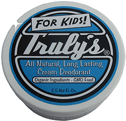 Truly's All Natural, Long Lasting Organic Cream Deodorant for Kids